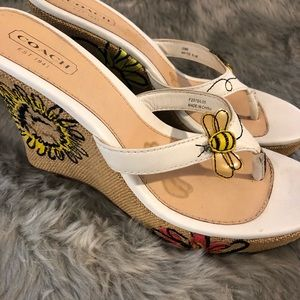 Coach espadrilles with bumble bees!